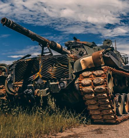 Во Львове с помощью пива испытали украинский танк
